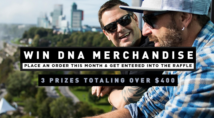 Chance to Win DNA Merchandise - 3 Prizes Awarded Totaling $400