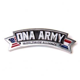 DNA Army Logo big pin
