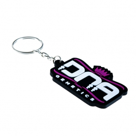 DNA Genetics Keyring Purple