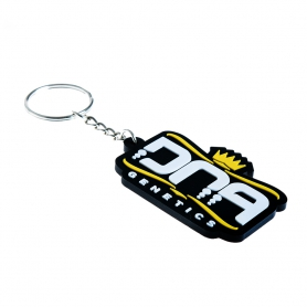 DNA Genetics Keyring Yellow